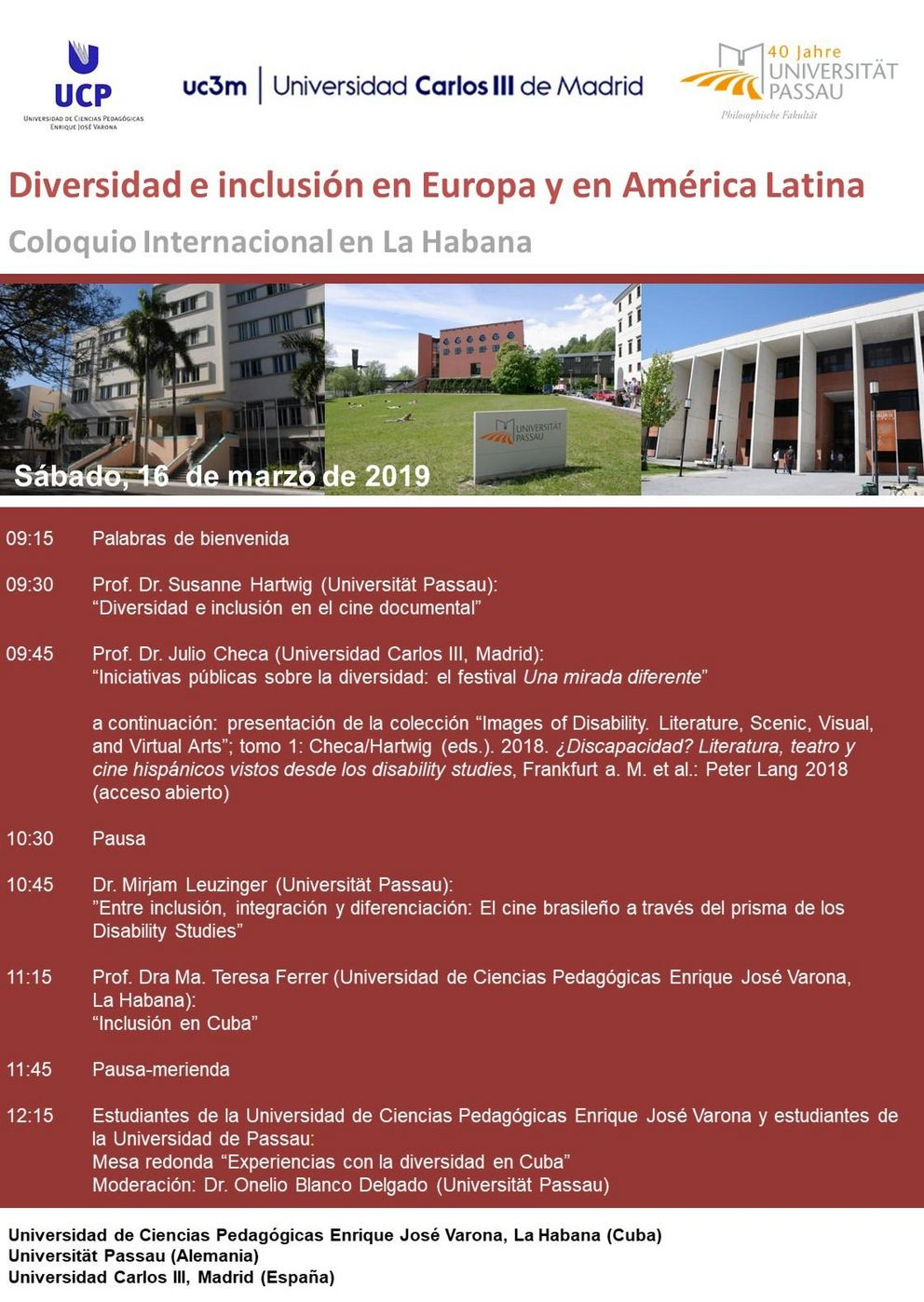 Plakat zum Internationalen Kolloquium in Havanna