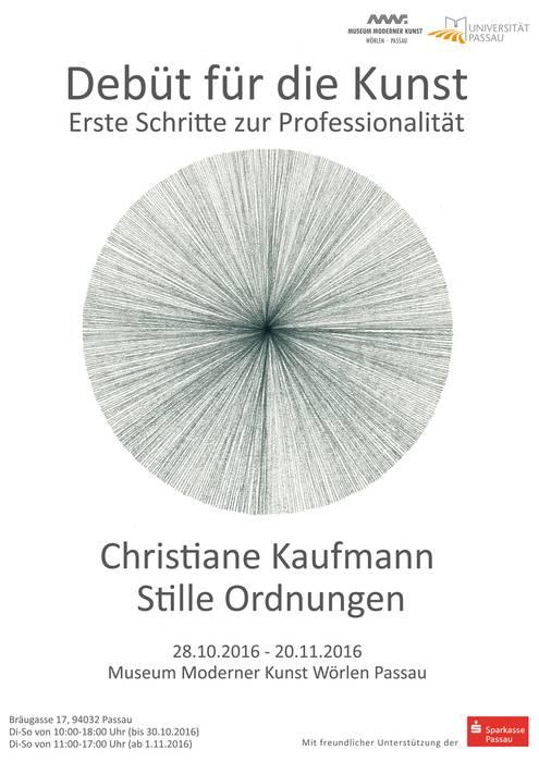 Debüt für die Kunst - Christiane Kaufmann - Universität Passau